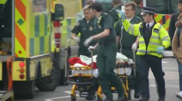 Immediate Aftermath of London Parliament Attack