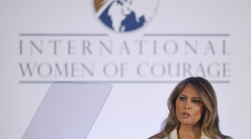Melania Trump Honors Women In Rare First Lady Appearance