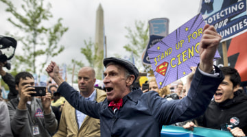 March for Science Demonstrators Say They're the Real Patriots