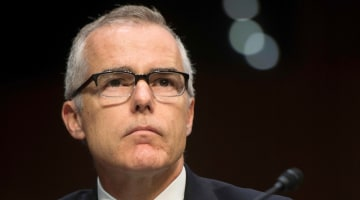 President Trump hails McCabe's firing, lawmakers express outrage