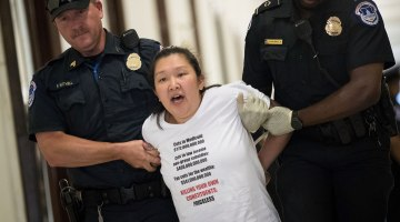 Forty Arrested Protesting Health Care on Capitol Hill