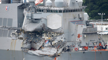 Navy to convene court-martial proceedings against sailors in 2 destroyer crashes