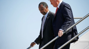 Ben Carson Breaks With Trump Hours Before Campaign Event