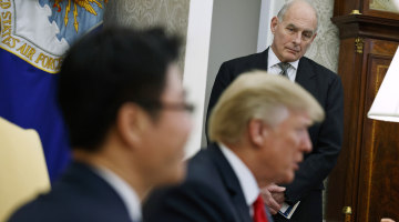 Amid White House turmoil, Trump mused about life without a chief of staff
