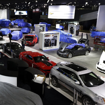 Image: General Motors display at North American International Auto Show