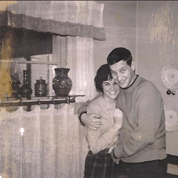 Image: John and Bonnie Raines early in their marriage