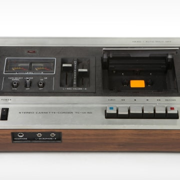 Vintage Cassette Tape Recording Device Isolated