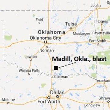 IMAGE: Map of Oklahoma explosion.