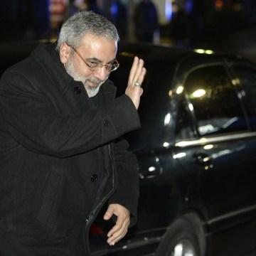 Image: Syrian Information Minister Omran al-Zoubi arrives in Montreux