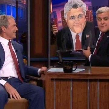 Image: George Bush on The Tonight Show with Jay Leno