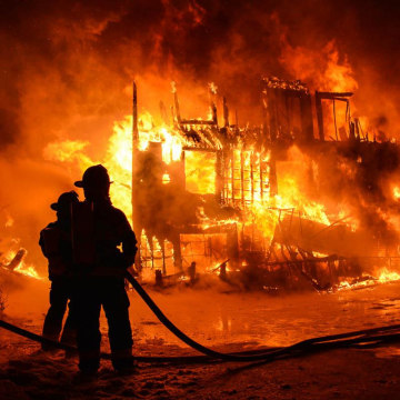 Quebec provincial police confirm that at least 3 people are dead and 30 others missing after a fire destroyed a seniors home in the town of L'Isle-Verte.