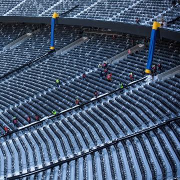 Image: Workers Prepare MetLife Stadium For Superbowl XLVIII