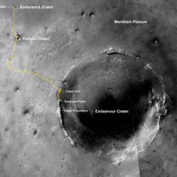 Image: Opportunity's trek