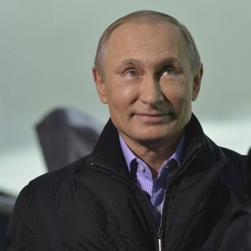 Image: Russia's President Vladimir Putin attends an interview with BBC