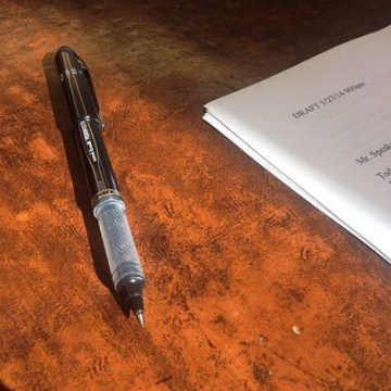 President Obama's pen used for editing his State of the Union