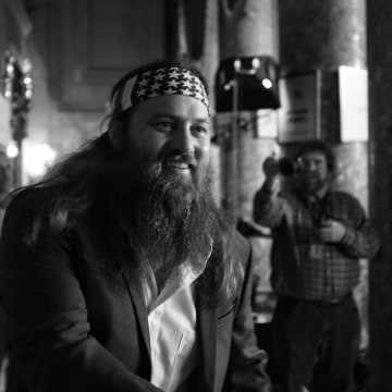 Willie Robertson arriving as a special guest for Tuesday's State of the Union Address