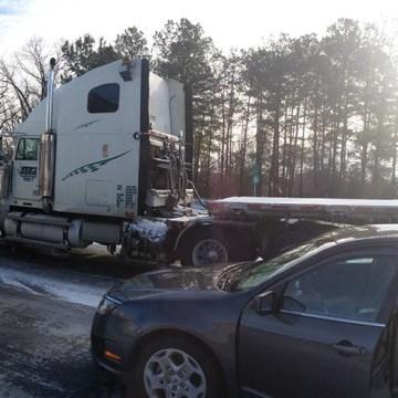 Stalled traffic on Interstate 285 outside Atlanta on Jan. 29, 2014.