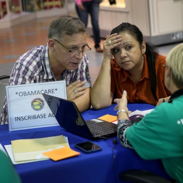 Image: Affordable Care Act Fair Draws Floridians As Enrollmnent Deadline Looms