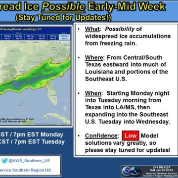 IMAGE: National Weather Service map