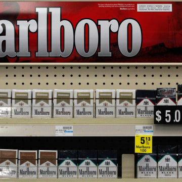 Image: Marlboro cigarettes are on display in a CVS store in Pittsburgh