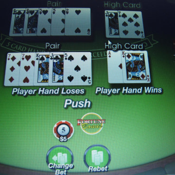 A computer screen in Atlantic City, N.J., shows a game of Pai Gow on a gambling website. An Economist magazine survey says world-wide gambling losses last year hit a record $440 billion.