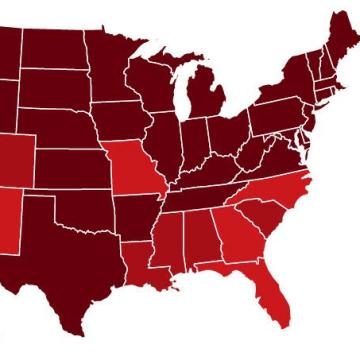 Flu twitter map