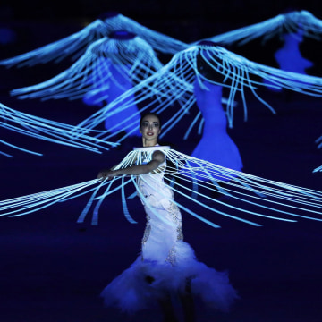 Artists perform during the opening ceremony of the 2014 Winter Olympics in Sochi, Russia on Feb. 7.