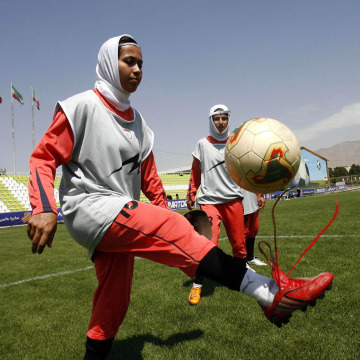 Image: Iranian female soccer players