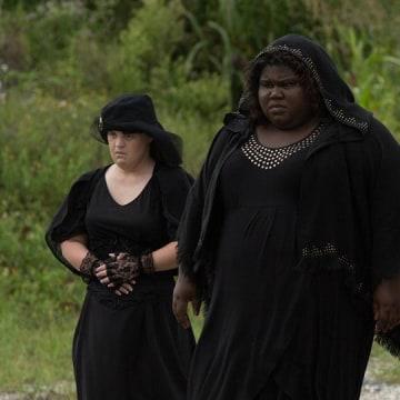 """American Horror Story: Coven"" stars Jamie Brewer (Nan), Gabourey Sidibe (Queenie) and Taissa Farmiga (Zoe)."