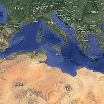 The aircraft crashed in Oum El Bouaghi, a mountainous region in the northeast of Algeria.