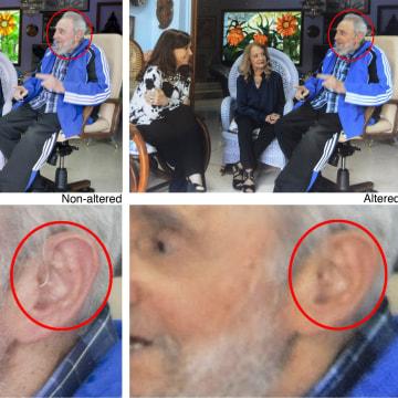 Image: Fidel Castro, Cristina Fernandez, Dalia Soto