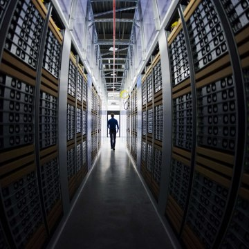 Image: A server room at a Facebook data center