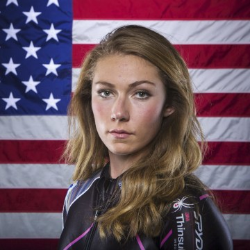 Image: Olympic alpine skier Mikaela Shiffrin poses for a portrait during the 2013 U.S. Olympic Team Media Summit in Park City, Utah