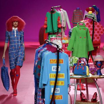 Image: Models present creations from Agatha Ruiz de la Prada's Fall/Winter 2014 collection