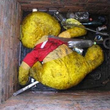 Image: A Winnie the Pooh stuffed bear in East Kilbride