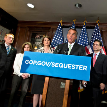 Image: Cathy McMorris Rodgers, John Boehner, Eric Cantor, Lynn Jenkins, Kevin McCarthy, James Lankford