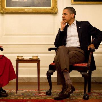 Image: President Barack Obama meets with His Holiness the XIV Dalai Lama