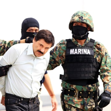 Image: Drug lord Chapo Guzman captured