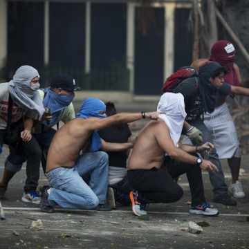 Violent street protests in OPEC member Venezuela, as well as Ukraine and South Sudan, have spooked oil markets and sent up gasoline prices.