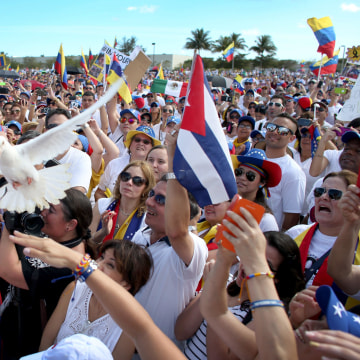 Image: U.S. Protestors Rally In Support Of Venezuelan Opposition