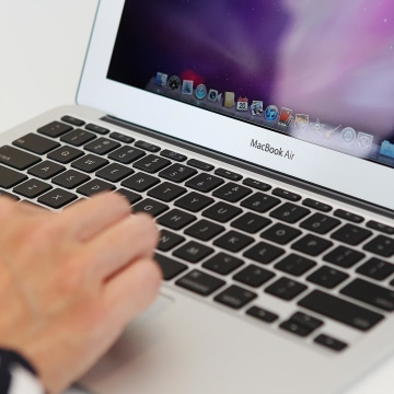Image: A Mac Book Air computer