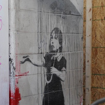 Image: A mural by the artist Banksy, in New Orleans.