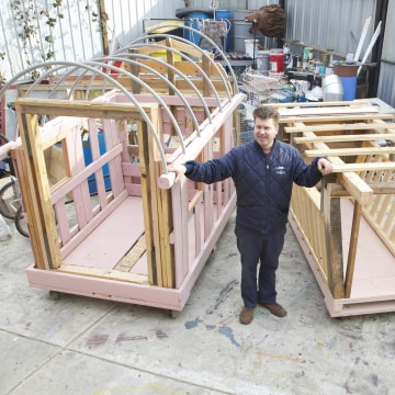 California artist Gregory Kloehn, who builds small portable homes using salvaged materials, says an inexpensive structure is a way to keep someone safe and out of jail.