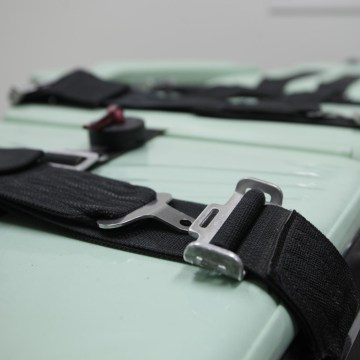 Image: Restraints are shown on a table inside the death chamber of a new lethal injection facility.