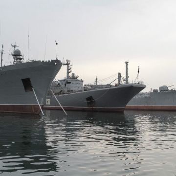 Image: Russian navy ship moored in Sevastopol, Ukraine