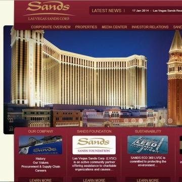 Image: Sands website hacked