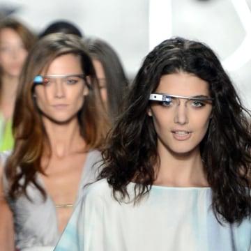 Image: Models walk the runway at the Diane Von Furstenberg Spring 2013 fashion show