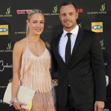 Image:  Oscar Pistorius and Reeva Steenkamp on Nov. 4, 2012