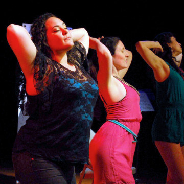 Image: Members of Chicago's all-Latina theater, Teatro Luna, on stage.