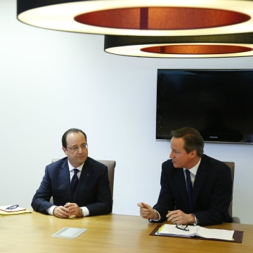 Image: Donald Tusk, Francois Hollande, David Cameron